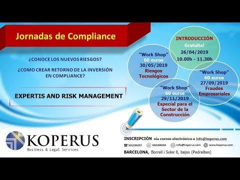 Koperus celebrará el próximo 26 de Abril unas jornadas compliance para empresas