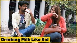 Video Stammerer Kid Drinking Milk in Nipple Bottle Prank | The HunGama Films MP3, 3GP, MP4, WEBM, AVI, FLV Maret 2019