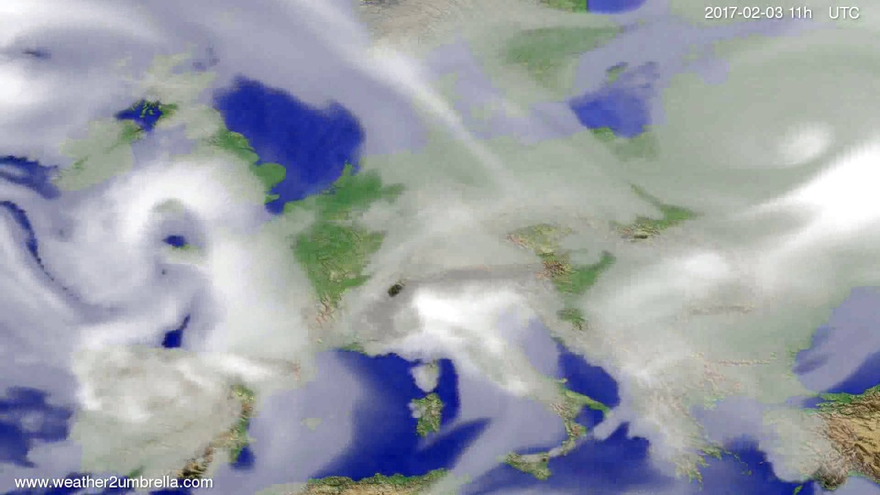 Cloud forecast Europe 2017-01-31