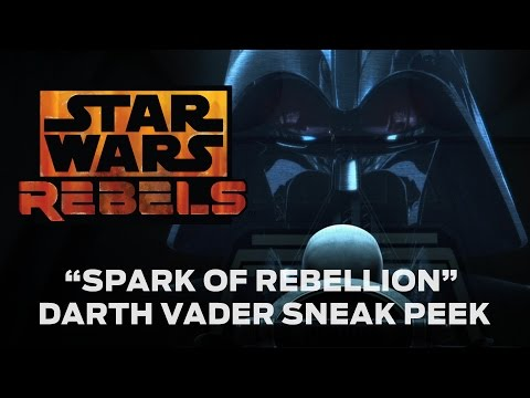 """peek - Get a first look at Darth Vader in the new extended version of Star Wars Rebels' premiere movie, """"Spark of Rebellion,"""" airing Sunday, October 26 (7:00 p.m. ET/PT), on ABC !"""