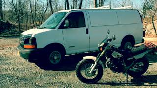 8. MotoVAN TW200 on a Switch Hauler Motorcycle carrier