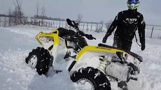 8. Can Am Outlander's and X3 in DEEP SNOW! ~ 2019 Outlander 650 XMR