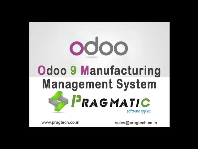 Odoo Manufacturing Management