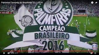 Final de jogo. Palmeiras 1 x 0 Chapecoense Verdão Campeão! Dá-lhe Porco!!