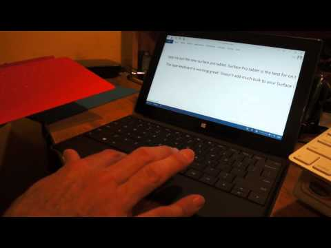 Touch Cover - A quick look at the difference between the Type Cover and the Touch Cover for the Microsoft Surface Tablet. Also in the video a way to use both cover keyboar...