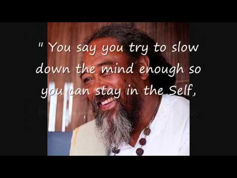 Mooji Quotes: No Need to Slow Down the Mind