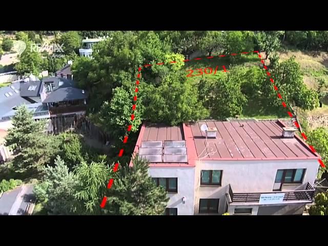 Letecké video k pronájmu vily v Troji