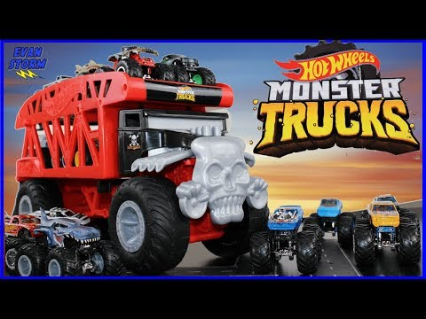 Hot Wheels Giant Wheels Monster Mover Monster Trucks Unboxing & Play Video For Kids