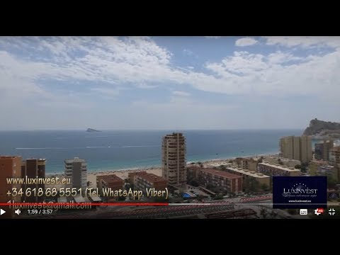 Элитные апартаменты с видом на море в Бенидорме, побережье Коста Бланка