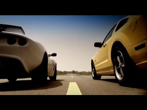 Lotus Exige vs Ford Mustang (HQ) – Top Gear – BBC