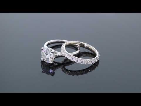 The Perfect Diamond Solitaire Engagement Ring & Matching Wedding Band - F3135