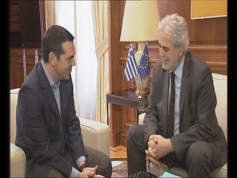 Συνάντηση Αλ. Τσίπρα με τον Ευρωπαίο Επίτροπο Χρ. Στυλιανίδη