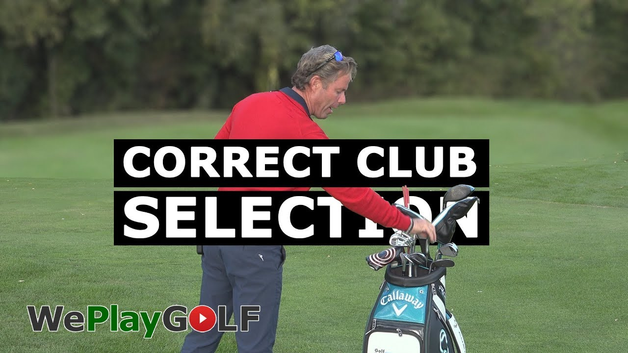 Correct Club Selection depending on lie of the golf ball. Not always your favourite golf club!
