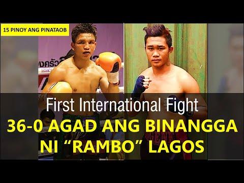"""First International Fight ni """"Rambo"""" Lagos 36-0 Agad ang Binangga"""