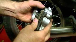 10. Motorcycle Repair: How to Measure Motorcycle Brake Pad Wear on a 2009 Kawasaki KLR 650