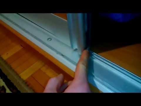 Как отрегулировать двери шкафа купе самому (видео)