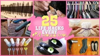 25 LIFE HACKS EVERY GIRL SHOULD KNOW?! - YouTube