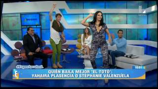 Video Stephanie Valenzuela paralizó el set por bailar 'El Toto' MP3, 3GP, MP4, WEBM, AVI, FLV November 2018