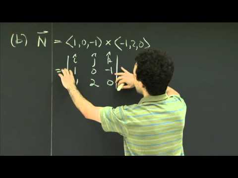 Gleichungen von Flugzeugen | MIT 18.02SC Multivariable Calculus, Herbst 2010