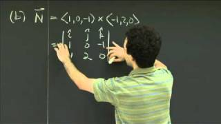 Equations Of Planes | MIT 18.02SC Multivariable Calculus, Fall 2010