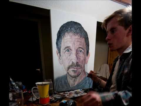 Stop Motion Painting Of Artists Father