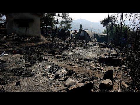 Σάμος: Δεύτερη μέρα με φωτιά και εντάσεις στο ΚΥΤ
