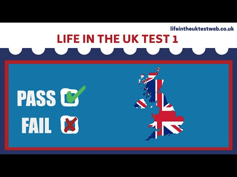 🇬🇧 Life in the UK Test 2020 - Free Citizenship tests practice-TEST 1 📚