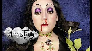 THE ADDAMS FAMILY MORTICIA BLOOMING MAKEUP by Kat Sketch