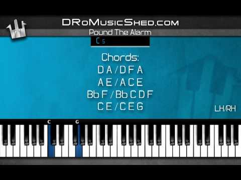 видео игры на фортепиано - Pound the alarm