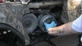9. Yamaha Grizzly 450 Machined Sheave And Grease-Less Clutch Install Redux