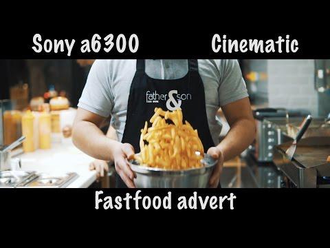 Sony a6300 - Zhiyun crane - Fast food advert