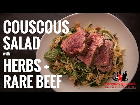 San Remo Couscous Salad with Herbs and Rare Beef | Everyday Gourmet S6 EP48