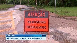 Sorocaba: chuva causa estragos e alagamentos
