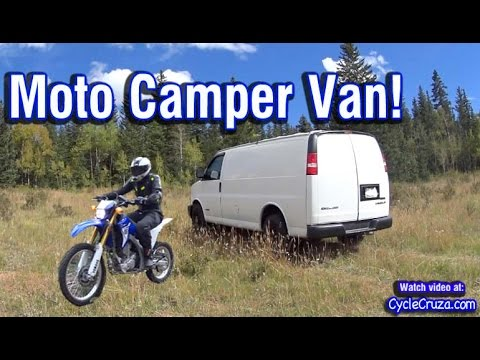 Bug-Out Stealth Camper Van with Motorcycle Hauling/Storage