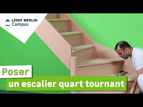 comment poser escalier helicoidal
