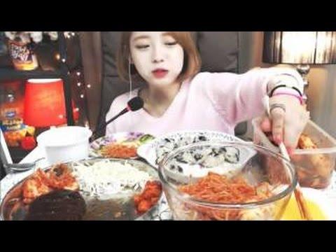 학교급식특집!!! 함박스테이크,야채쫄면,비빔밥  슈기의 먹방 Shoog