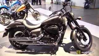 10. 2015 Honda Shadow Black Spirit 750 - Walkaround - 2014 EICMA Milan Motorcycle Exhibition