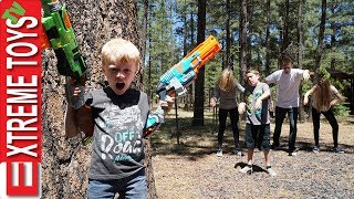 The Infected Vs. Ethan and Cole Nerf Blaster Battle!