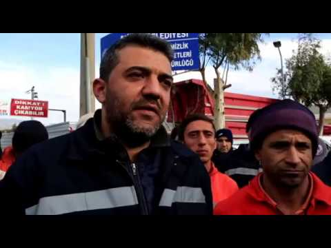 Milas'ta temizlik işçileri iş bıraktı