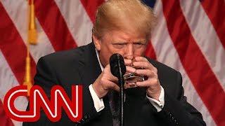 Video Trump's sealed water glass floats theories MP3, 3GP, MP4, WEBM, AVI, FLV Juli 2018