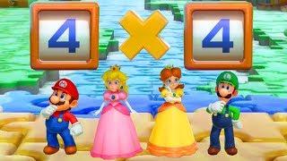 Super Mario Party - All Brainy Minigames - Master CPU