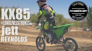 "BRAAAP! Thumbs up, share and subscribe for more two stroke videos.http://www.mxwc.com/http://youtube.com/mxwebcamhttp://instagram.com/mxwebcamhttp://twitter.com/mxwebcamMXWEBCAM Presents ""KX85 Dirt Bike - Jett Reynolds - Long Live 2 Strokes - Motocross Video by MXWC"". Kawasaki team green racer Jett Reynolds #79 - 8 time Loretta Lynn champion - 3 time youth rider of the year - 102 national MX titles."
