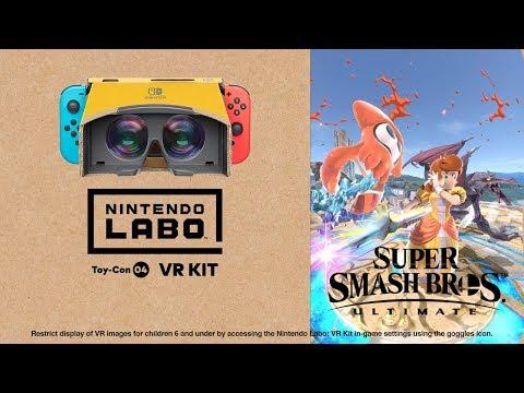 Nintendo Labo: VR Kit + Super Smash Bros. UItimate - Thời lượng: 1:17.