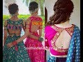 Blouse Back Neck models | Stylish and Trendy Bridal Blouse Back Neck Design