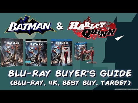 BATMAN AND HARLEY QUINN - BLURAY UNBOXING (BLURAY, 4K UHD, TARGET, BEST BUY) BLURAY BUYERS GUIDE