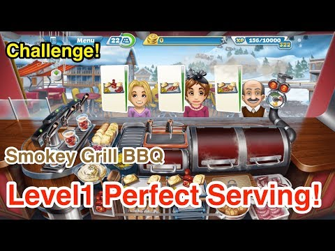 【Cooking Fever】Smokey Grill BBQ Challenge Level1 3Stars!!