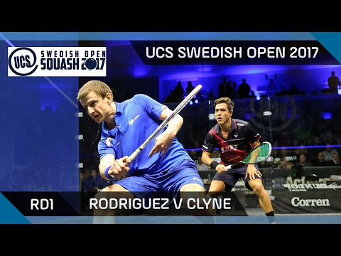 Squash: Rodriguez v Clyne - UCS Swedish Open 2017 Rd1 Highlights