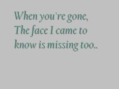 When you're gone - Avril Lavigne [lyrics video]