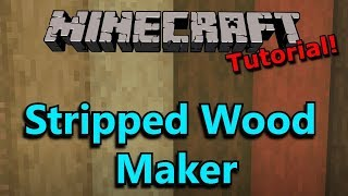 [Tutorial] Minecraft 2-in-1 Stripped Wood Log & Concrete Maker!