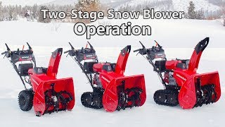 5. Honda Two-Stage Snow Blower Operation